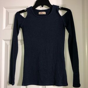 Navy Long Sleeve w/ Cut outs